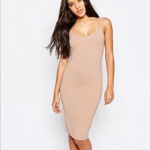 ASOS spaghetti Strapped Bodycon Dress